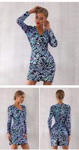 Sexy Sequin Long Sleeve Mini Luxury Club Dress image 3