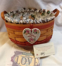 Longaberger 1995 Mothers Day Basket Of Love 1998 CC Renewal Fabric SU Liner New image 2
