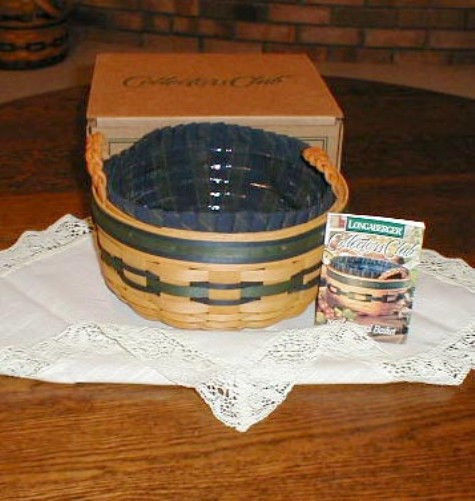 Longaberger 1995 Mothers Day Basket Of Love 1998 CC Renewal Fabric SU Liner New image 3