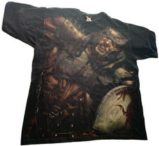 Vintage Dungeons & Dragons Regdar T-Shirt All Over Graphic Size XL RARE D&D - $57.80