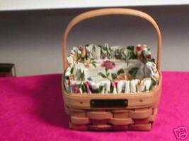 Longaberger Ivy Booking Coaster Tote Basket Garden Splendor Fabric SU Liner New image 4