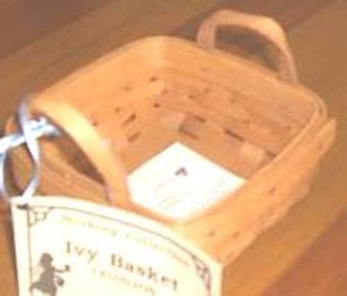 Longaberger Ivy Booking Coaster Tote Basket Garden Splendor Fabric SU Liner New image 3