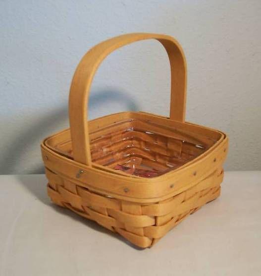 Longaberger Ivy Booking Coaster Tote Basket Garden Splendor Fabric SU Liner New image 2