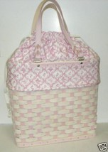 Longaberger Horizon Of Hope 2006 Basket Large Tote Pink Fabric Liner Only New image 3