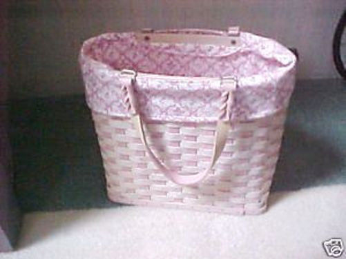 Longaberger Horizon Of Hope 2006 Basket Large Tote Pink Fabric Liner Only New image 2