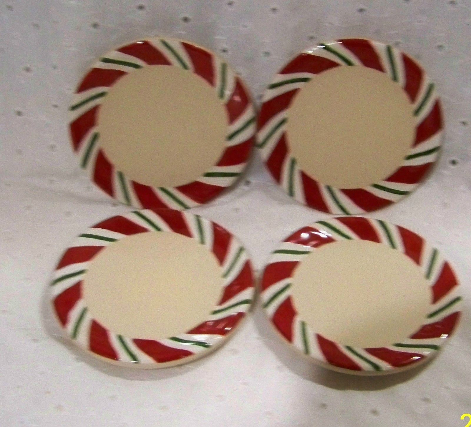 Longaberger Coasters Set Of 4 Red White Green New In Boxes Peppermint Twist