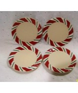 Longaberger Coasters Set Of 4 Red White Green New In Boxes Peppermint Twist - $15.79