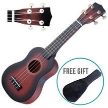 """21"""" Wood Soprano Ukulele Guitar Sapele 12 Frets Instrument with Carry Bag - $35.98"""