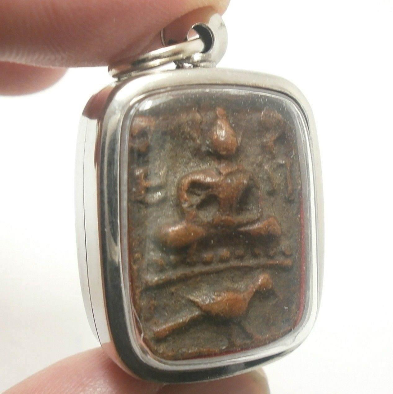 LP PARN BUDDHA RIDING BIRD AMULET LUCKY RICH MIRACLE PENDANT THAILAND NICE GIFT image 2
