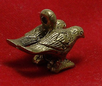 DUO SALIKA MAGIC BIRDS PENDANT THAI REAL HOT AMULET LUCKY LOVE APPEAL ATTRACTION image 5