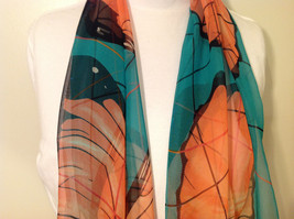 Butterflies print Summer Sheer Fabric Multicolor Scarf, colors of your choice