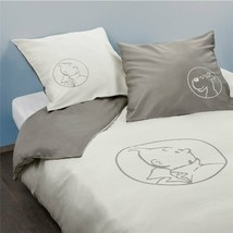 Double size duvet cover Tintin & snowy & 2 square pillow Tintin official product