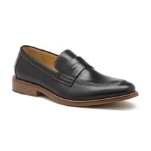 Mens G.H. Bass Usa Leather Classic Dress shoes Loafer 70-10114 Conner Black - $125.00