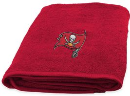 Tampa Bay Buccaneers Bath Towel dimensions are 25 x 50 inches - $17.95