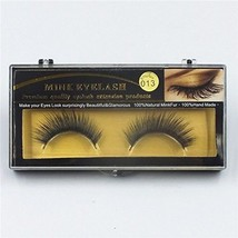 Derun Premium Handmade Reusable Natural Thick Black 100% Mink False Eyelashes Fo - $22.09