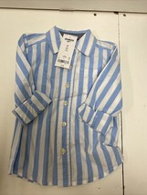 OshKosh B'gosh toddlers collared button up blue striped shirt. New with Tags - $8.79
