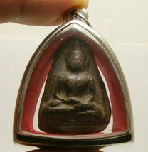 THAI MAGIC WARRIOR REAL AMULET POWERFUL PENDANT LP BOON BUDDHA WIN ALL OBSTACLE image 5