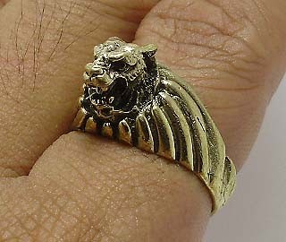 TIGER BRASS MEN RING THAI LIFE PROTECTION AMULET THAILAND LUCKY CHARM NICE GIFT image 3