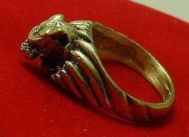 TIGER BRASS MEN RING THAI LIFE PROTECTION AMULET THAILAND LUCKY CHARM NICE GIFT image 5