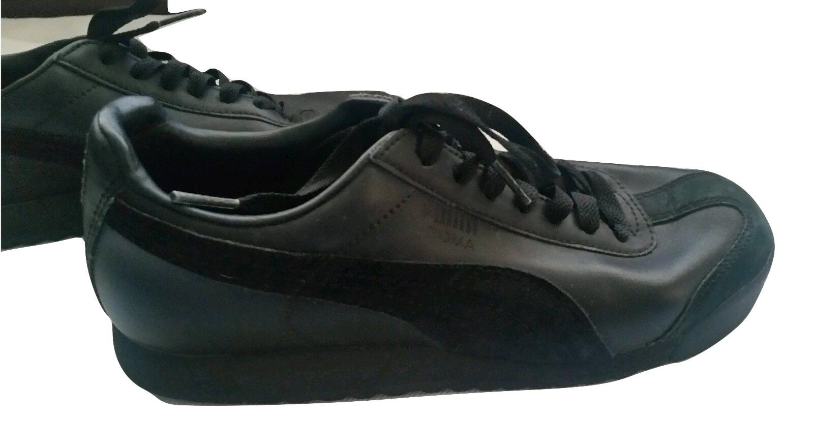 Img 4311639949 1501420068. Img 4311639949 1501420068. Puma Roma Basic  Women s Black leather sneakers Sz 5 US ... 034eaf8ce