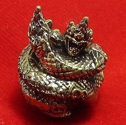 DUO NAGA NAK SNAKES MINI BALL THAI LOVE SEX APPEAL ATTRACTION REAL AMULET CHARM
