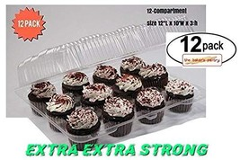 Cupcake Boxes, Cupcake Containers, 12 Pack Cupcake Containers, Set of 12... - $35.46