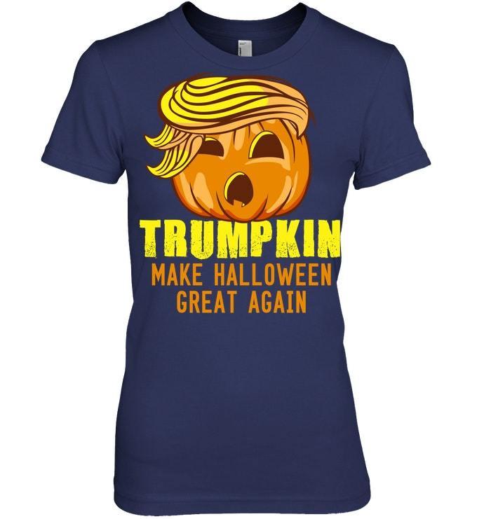 Funny Halloween Tshirt Trumpkin Trump Costume Political