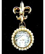 Coro 4 Picture Locket Pearl Marie Antoinette Fl... - $44.00