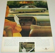 1963 Print Ad The 1964 Cadillac 4-Door Comfort Control Air Conditioning - $10.33