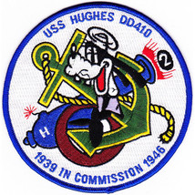 US Navy DD-410 USS Hughes Patch - $11.87