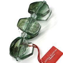 Bracelet Antica Murrina Venezia, Murano Glass, Chip Large Gray Green image 3