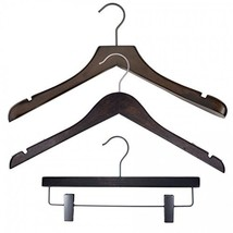 NAHANCO 20717HUSK Wood Clothes Hanger Kit - Low Gloss Espresso Pack of 79 - $164.65