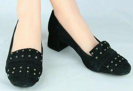 Nine West women's shoes loafer leather upper black medium heel size 9M image 3