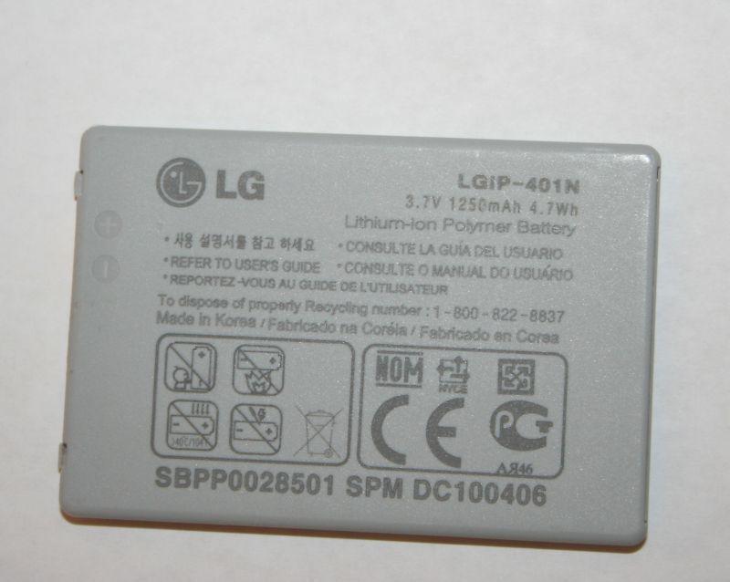 OEM LG Rumor Touch LN510 Battery LGIP-401N SBPP0028501