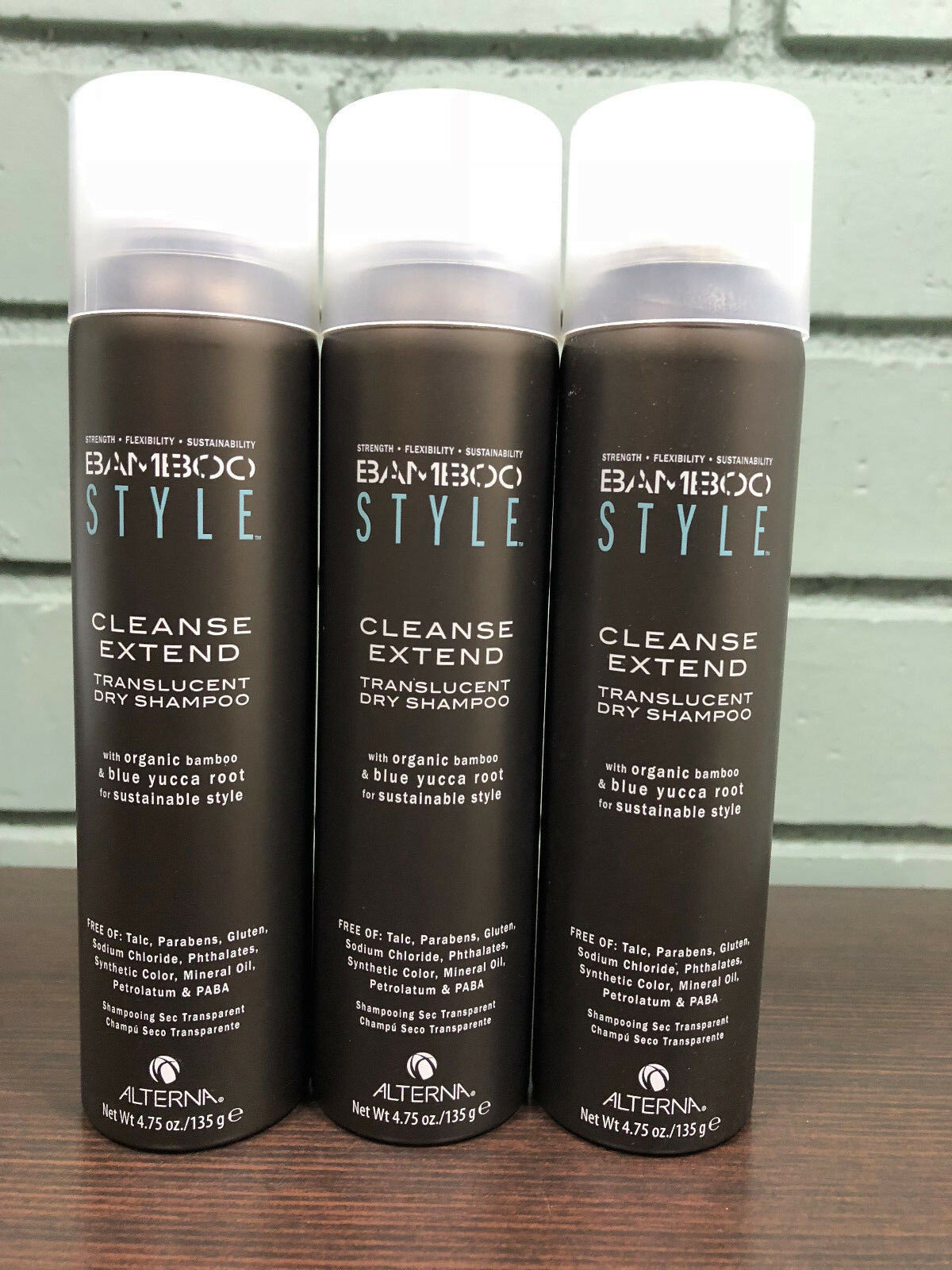 Alterna Bamboo Cleanse Extend Translucent Dry Shampoo 4.75oz ( 3 PACK ) New!