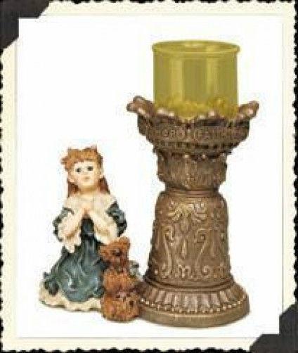 """BoydsYesterdays Child*CandleHold""""Teresa & John..The Prayer""""#27900*1E*NEW*Retired"""