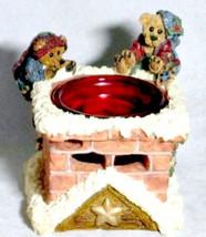 "Boyds Bearstone Votive ""Elgin & Elliot The Elves"" #2771- Candle -NIB-  Retired - $23.99"