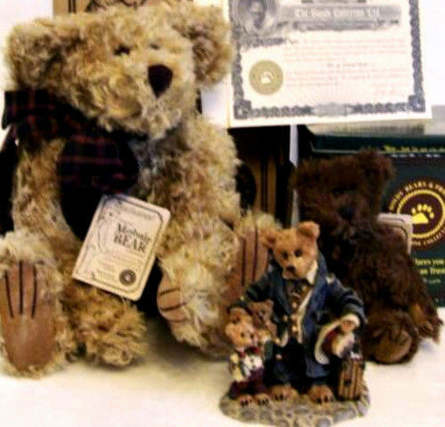 "Boyds Bears ""Uncle Gus & Honeybunch"" 12"" QVC Exclusive Mohair -#99526V -NWT-1997"