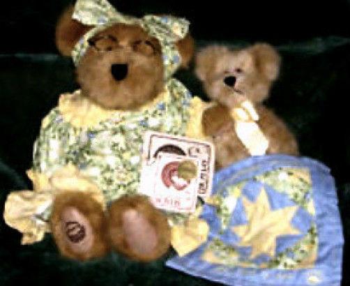 "Boyds Bear""Grammy Quiltsbeary w/Patches"" #94635LB Longaberger LE Plush- 2001-NWT"