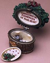 "Boyds Treasure Box""Nicholas' Holiday Basket w/Spruce McNibble""#392138- NIB- Ret image 1"