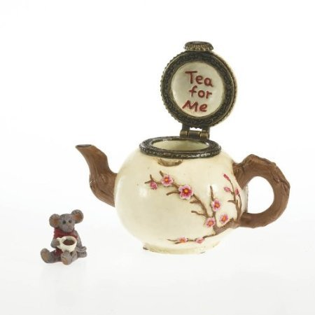"Boyds Treasure Box ""Camomille's Tea time with Steep"" #4027342- 1E- NIB-Retured"