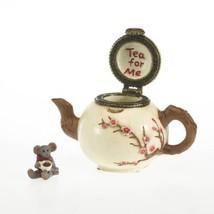 "Boyds Treasure Box ""Camomille's Tea time with Steep"" #4027342- 1E- NIB-Retured image 2"