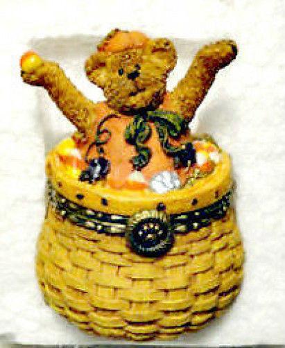 "Boyds Treasure Box ""Fall/Pumpkin Basket"" #392141LB- Longaberger Exclusive"