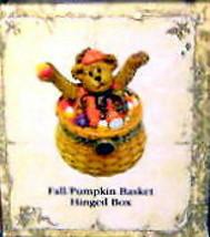 "Boyds Treasure Box ""Fall/Pumpkin Basket"" #392141LB- Longaberger Exclusive image 2"
