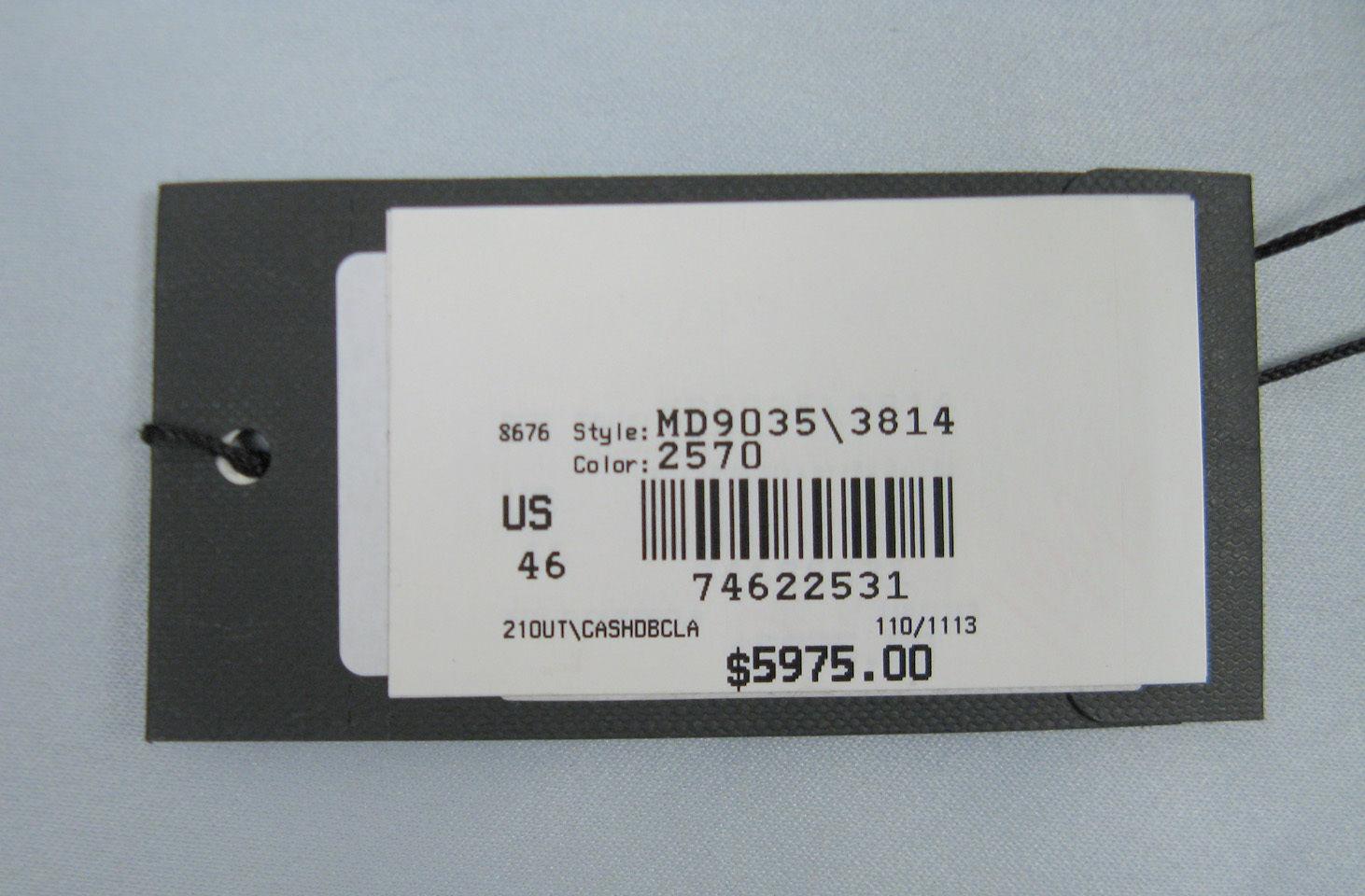 NEW $5975 Giorgio Armani Pure Cashmere Overcoat! 12 e 46 *Gorgeous Taupe*