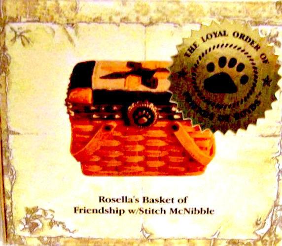 "Boyds Treasure Box""Rosella's Basket of Friendship""#02009-21 FoB -NIB-2009Retired image 2"