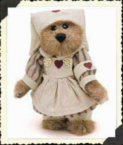 "Boyds Bears ""Naomi Bearlove"" 6"" Plush Nurse Bear-  #913957- NWT-2000-Retired"