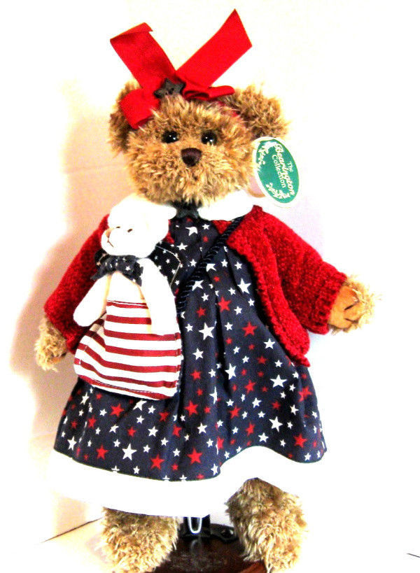 "Bearington Bears ""Betsy & Ross"" 12"" LE Patriotic Bear- #1078- NWT- 2002- Retired"