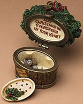 "Boyds Treasure Box""Nicholas' Holiday Basket w/Spruce McNibble""#392138- NIB- Ret image 3"