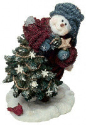"""Boyds Snow Dooodes""""Douglas.. Sprucin' Up the Tree""""  #36524* 1E* NIB* 2003"""